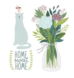 home sweet home design card vector image