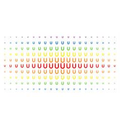 Horseshoe magnet spectrum halftone pattern vector