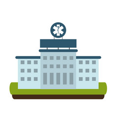 hospital building scenery vector image
