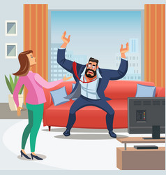 Image stressful home environment vector