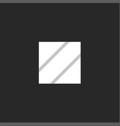 initial z logo letter striped square shape vector image