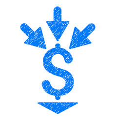 Integrate payment grunge icon vector