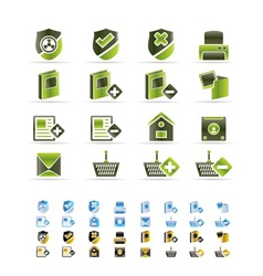 internet and website buttons and icons vector image
