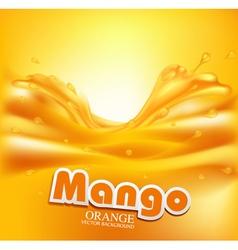 Juicy background with splashes of orange juice vector