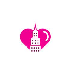 love town logo icon design vector image