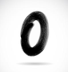 Number zero vector image