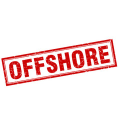 Offshore square stamp vector