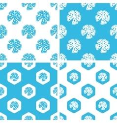 Pizza patterns set vector