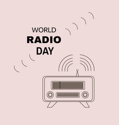 radio day vector image