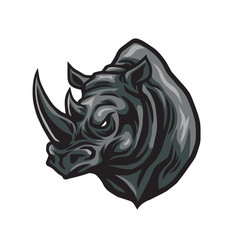 rhino head logo design icon vector image