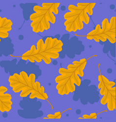 seamless pattern with oak leaves graphics vector image
