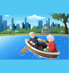 senior couple enjoying their retirement vector image