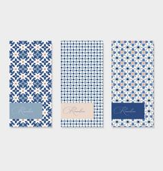 Set brochure menu card templates ramadan vector
