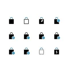Shopping bag duotone icons on white background vector image
