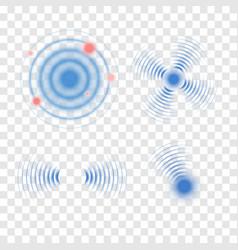 sonar wave sign radar icon vector image