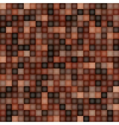 Square Pixel Brown Mosaic Background vector