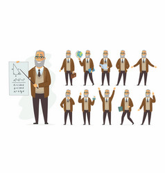 Teacher - cartoon people character set vector