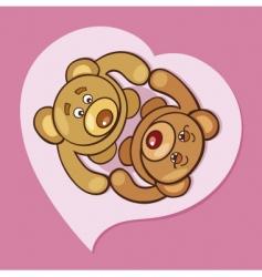 teddy bears valentine vector image