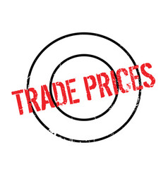 Trade prices rubber stamp vector