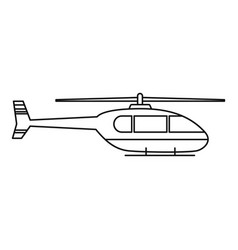 Utility helicopter icon outline style vector