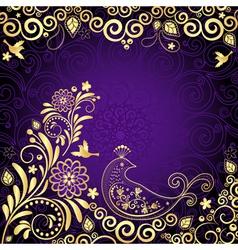 Vintage violet frame vector image