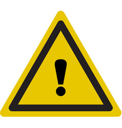 warning icon triangle warning icon in flat style vector image
