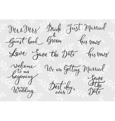 Wedding simple lettering decor vector image