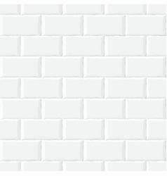 white brick wall seamless pattern eps10 vector image