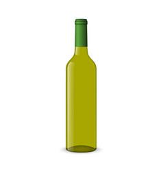 Wine bottle on white background vector