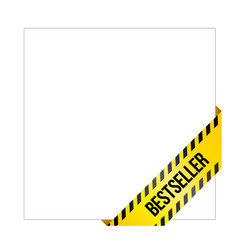 yellow caution tape with words bestseller vector image