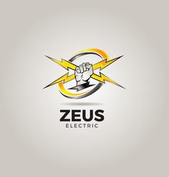 zeus electric service consultant logo icon symbol vector image