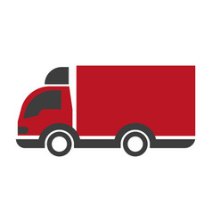truck lorry logo car with trailer delivery vector image