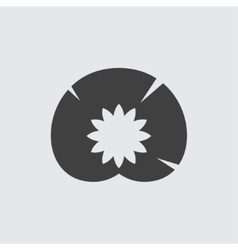 Water lily icon vector image vector image