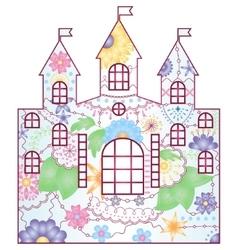 castle gradient vector image vector image