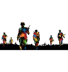 Paintball troops vector image vector image