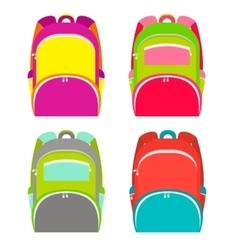 School backpacks collection isolated on white vector image vector image