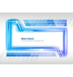 abstract shape blue vector image