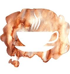 cofee watercolor vector image vector image