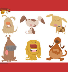 dog animal characters set vector image vector image