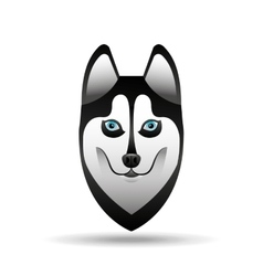 siberian husky dog face design vector image vector image