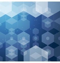 business hexagonal background Business vector image