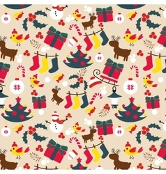 Christmas traditional pattern New Year holiday vector image