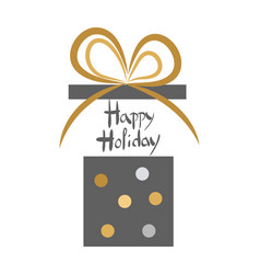 happy holiday vintage decorated open gift box vector image vector image