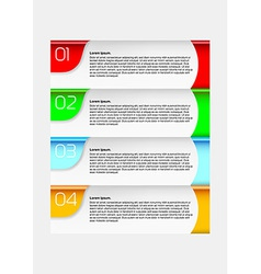 Infographics chart - goals to complete vector image