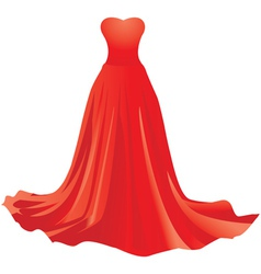 Red dress vector image vector image