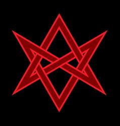 The horns of asmodeus mystical unicursal hexagram vector