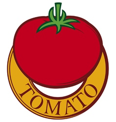 tomato label design vector image
