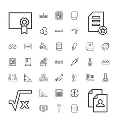 37 education icons vector