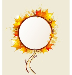 Abstract autumn tree vector image
