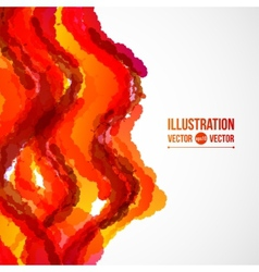 Abstract background of red and orange spots vector image